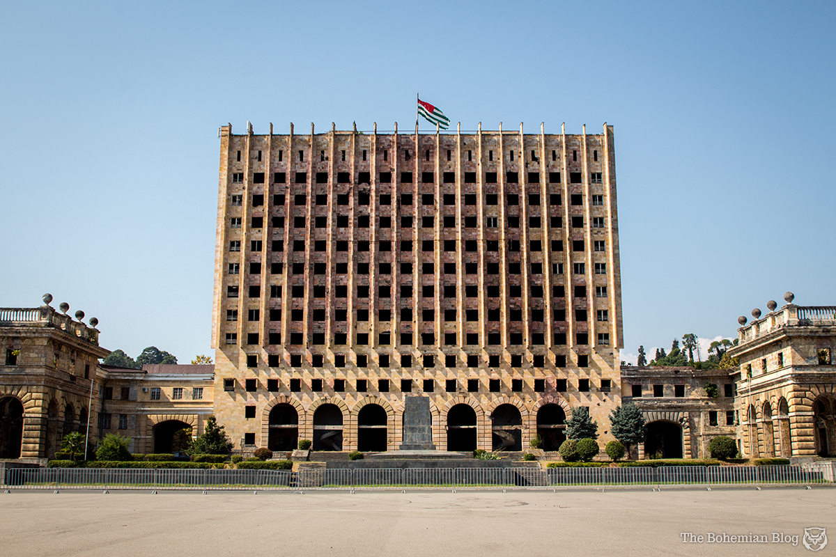 Former headquarters of the Council of Ministers in Sukhum, Abkhazia.