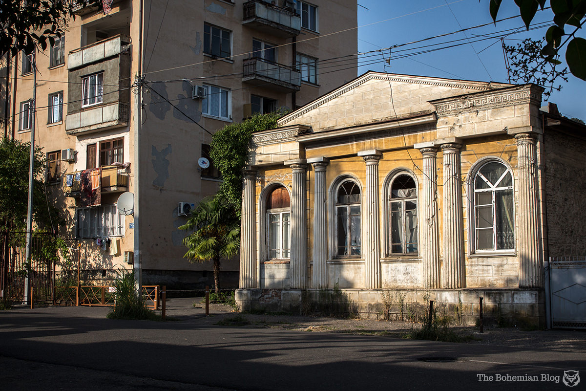 Beaux arts aspirations in the backstreets of Sukhum, Abkhazia.