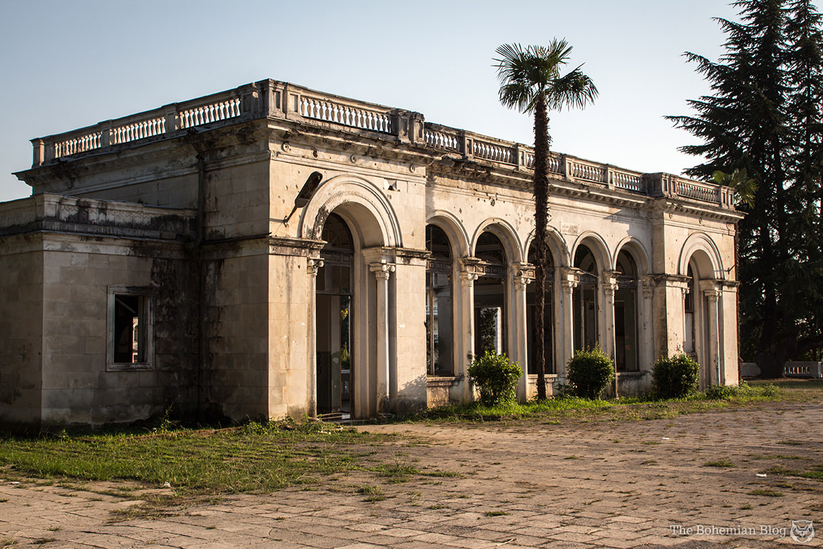 Abandoned train station in Sukhum, Abkhazia.
