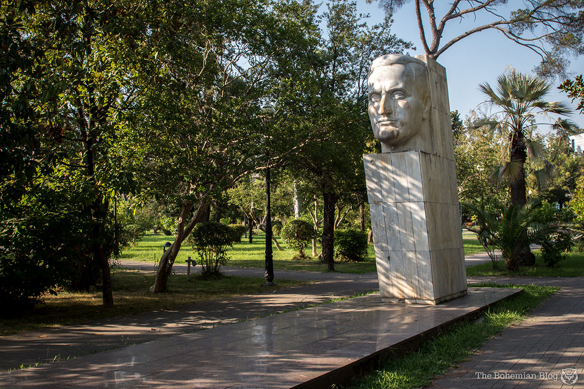 Monument to Ephraim Ashba in Sukhum, Abkhazia.