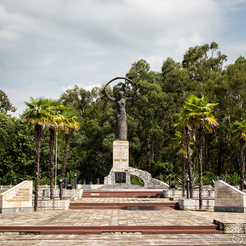Monument to the Fallen in the Battles for the Liberation of Abkhazia, at Tamishi.