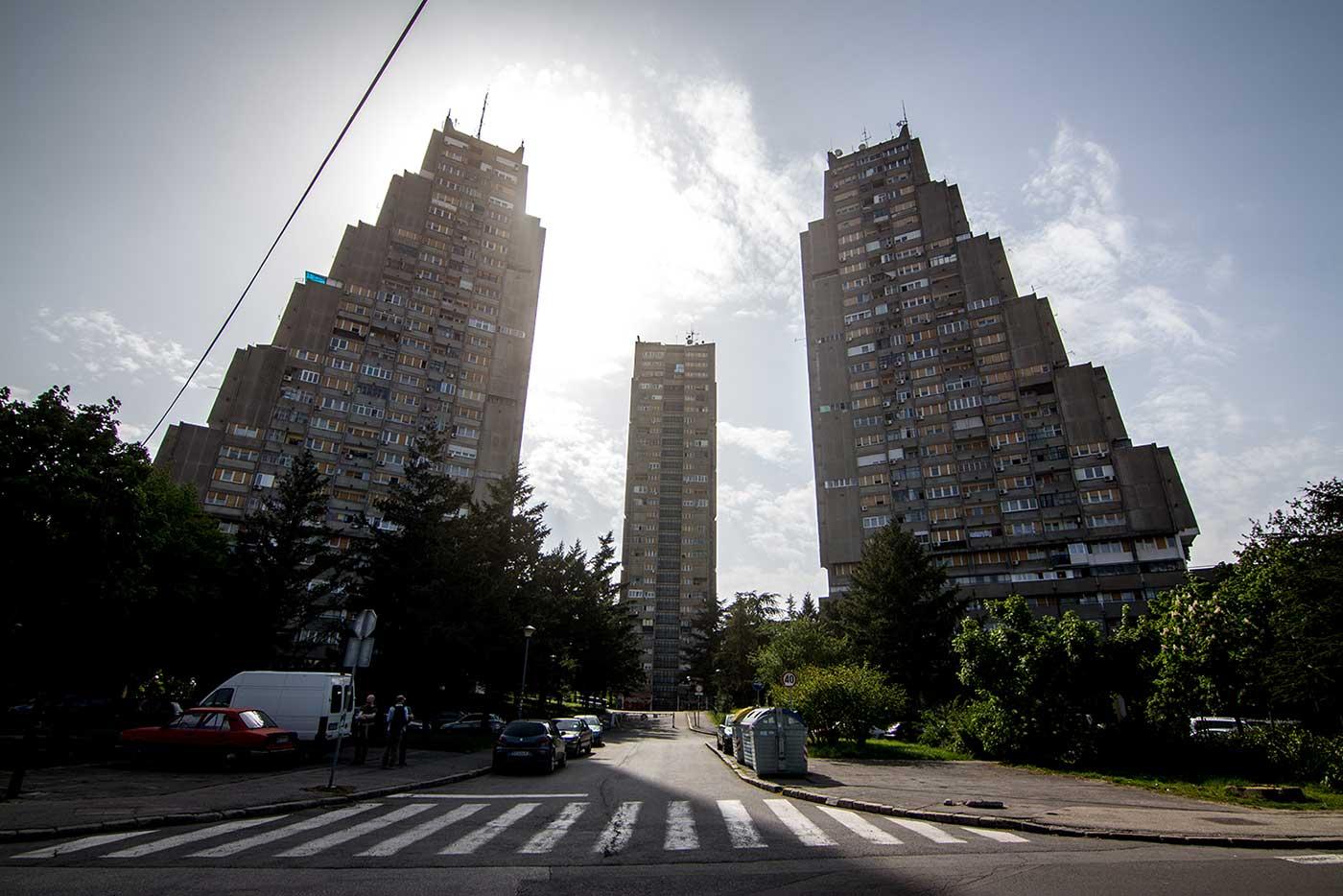Eastern City Gate in Belgrade, Serbia (Vera Ćirković & Milutin Jerotijević, 1973-76).