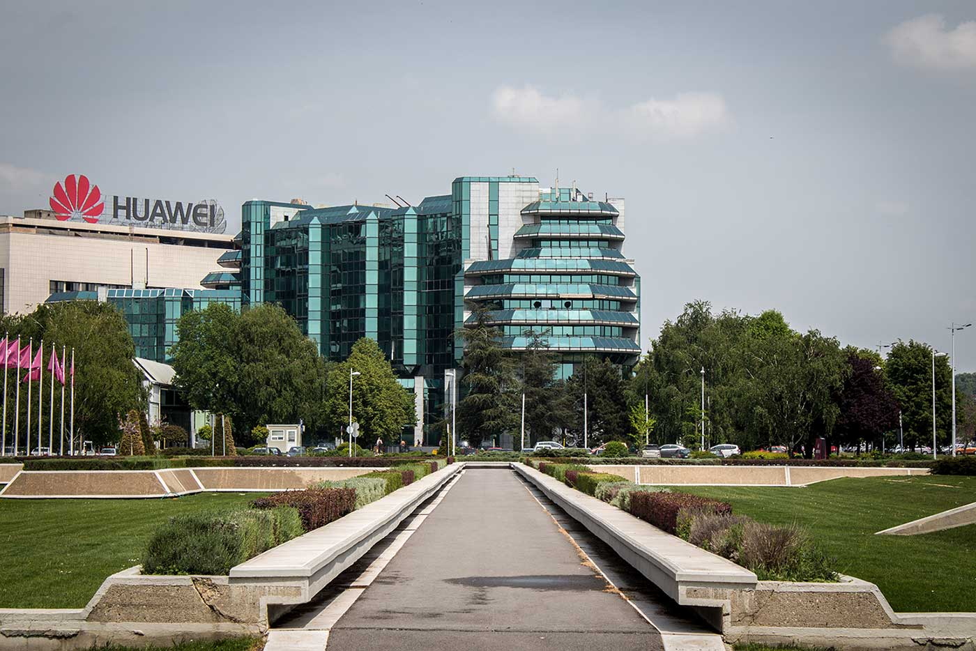 The Delta Holdings building on Ulica Vladimira Popovića. Novi Beograd, Serbia.