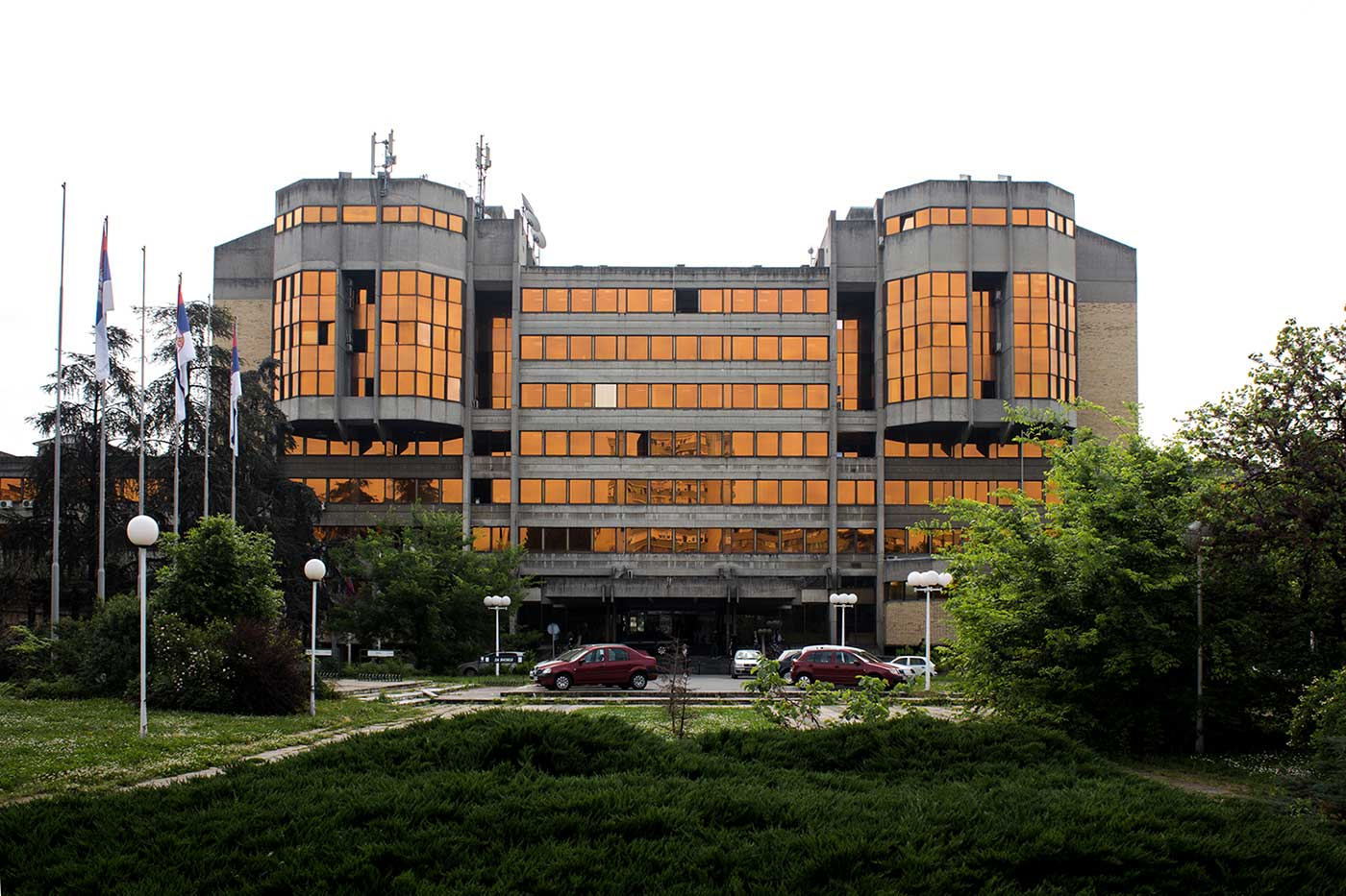 SIV 3 (Ljupko Ćurčić, 1975): An Administrative building in Novi Beograd that now houses the Belgrade Stock Exchange.