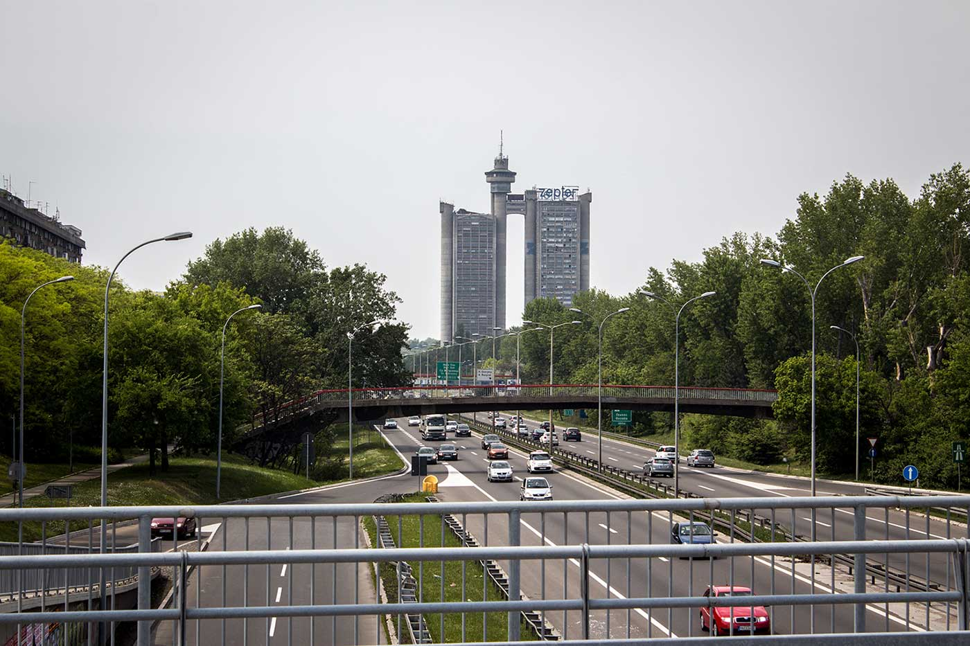 Western City Gate or 'Genex Tower,' Belgrade, Serbia (Mihajlo Mitrović, 1979).