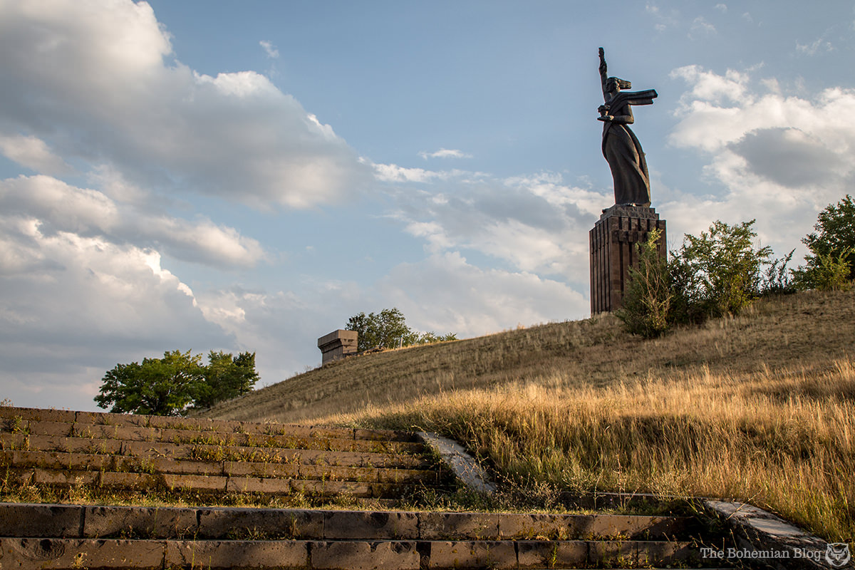 Monument to Mother Armenia (Architect: Rafik Yeghoyan, Sculptors: Ara Sargsian & Yerem Vartanyan, 1975). Gyumri, Armenia.