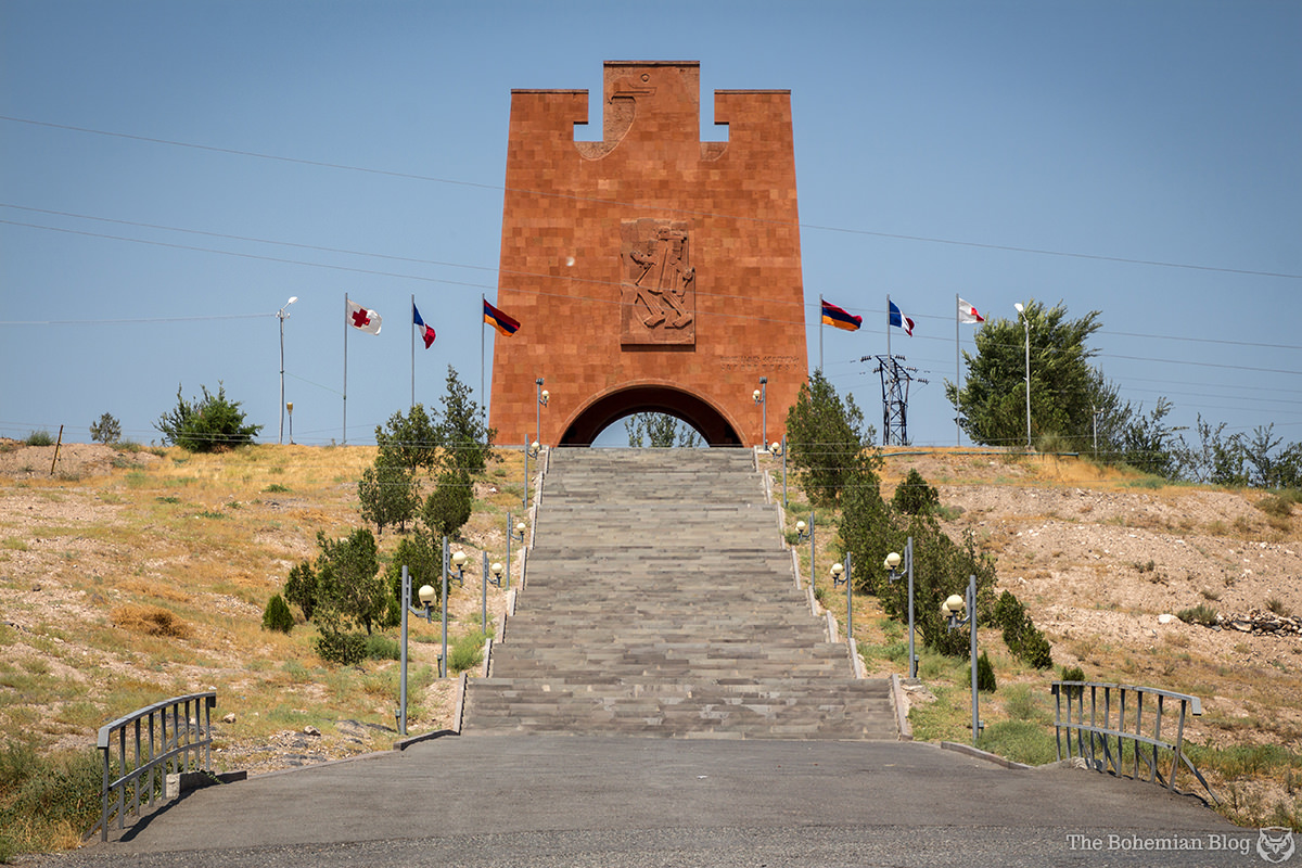 Monument to the Heroic Battle of Musa Dagh (Architect: Rafael Israelyan, Sculptor: Ara Haroutounyan, 1976). Musaler, Armenia.