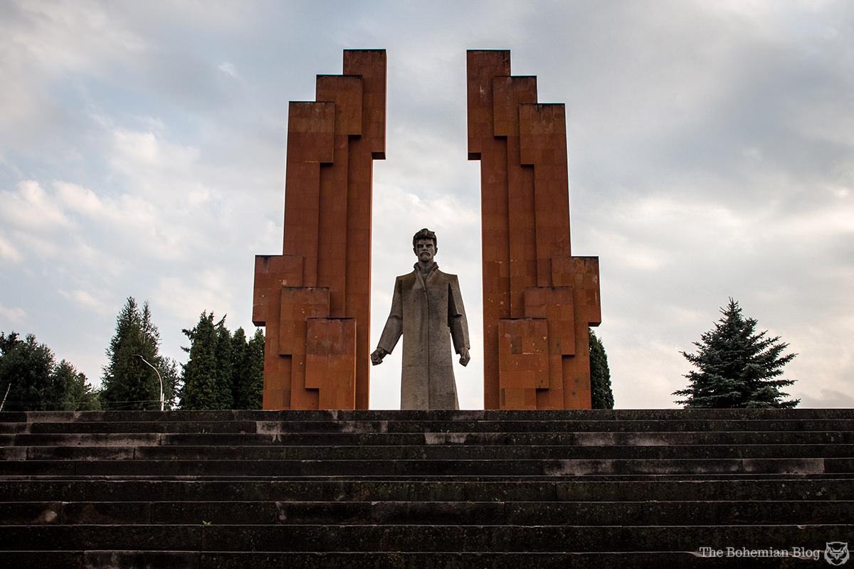 Monument to Stepan Shaumian (Ara Haroutounyan, 1982). Stepanavan, Armenia.