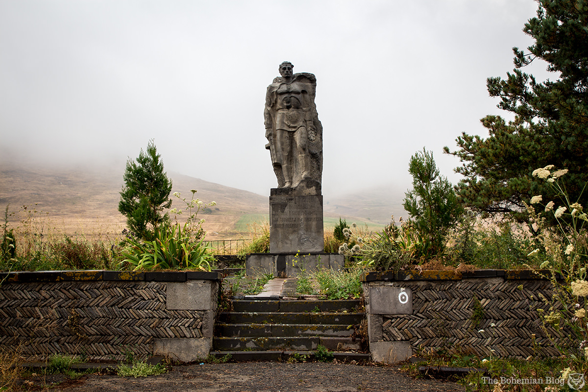 Monument to World War II Victims. Yaghdan, Armenia. One of the countless monuments that stand seemingly abandoned near rural communities.