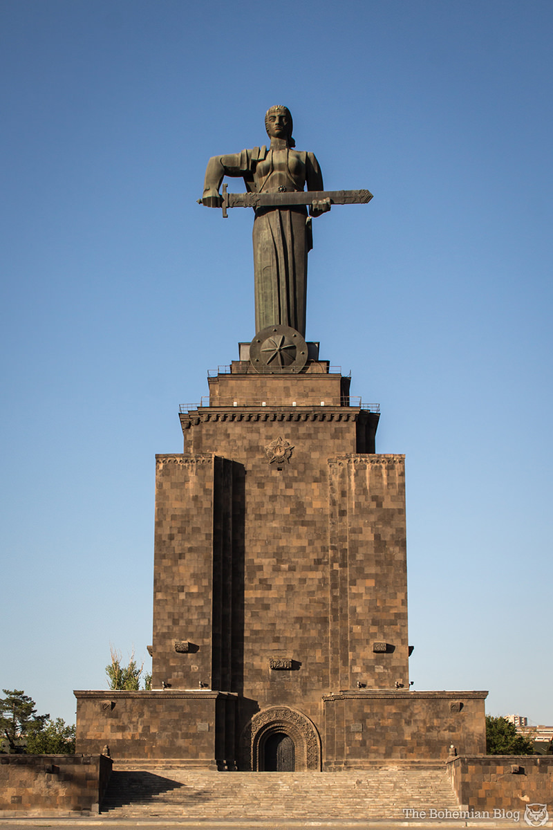 Elsewhere in Victory Park, this Mother Armenia Monument (Architect: Rafael Israelyan, Sculptor: Ara Harutyunyan, 1967) replaced an earlier statue of Josef Stalin (Sculptor: Sergey Merkurov, 1950).