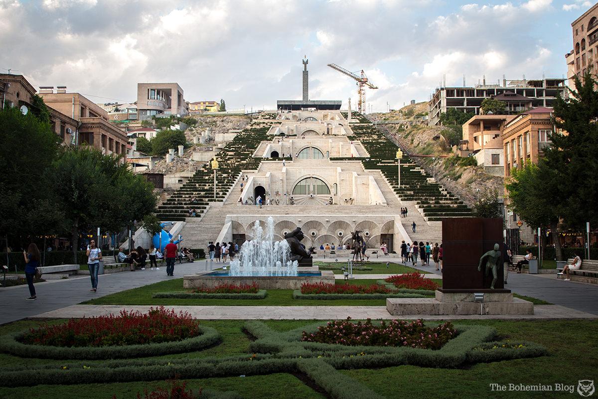Yerevan Cascade (Architects: Jim Torosyan, Aslan Mkhitaryan & Sargis Gurzadyan, 1971-1980). Yerevan, Armenia.
