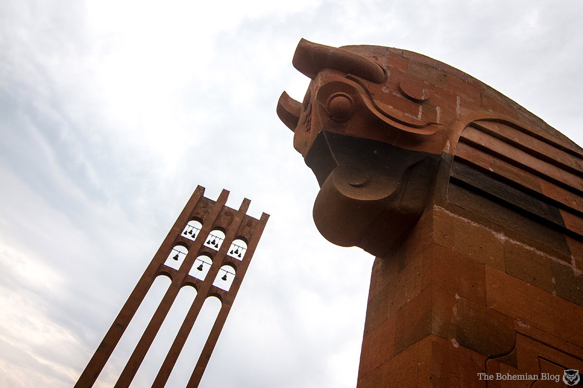 A 26m bell tower rises above the Sardarapat Memorial Complex, symbolic of the bells that rang to call Armenians to join the fight against the invaders.