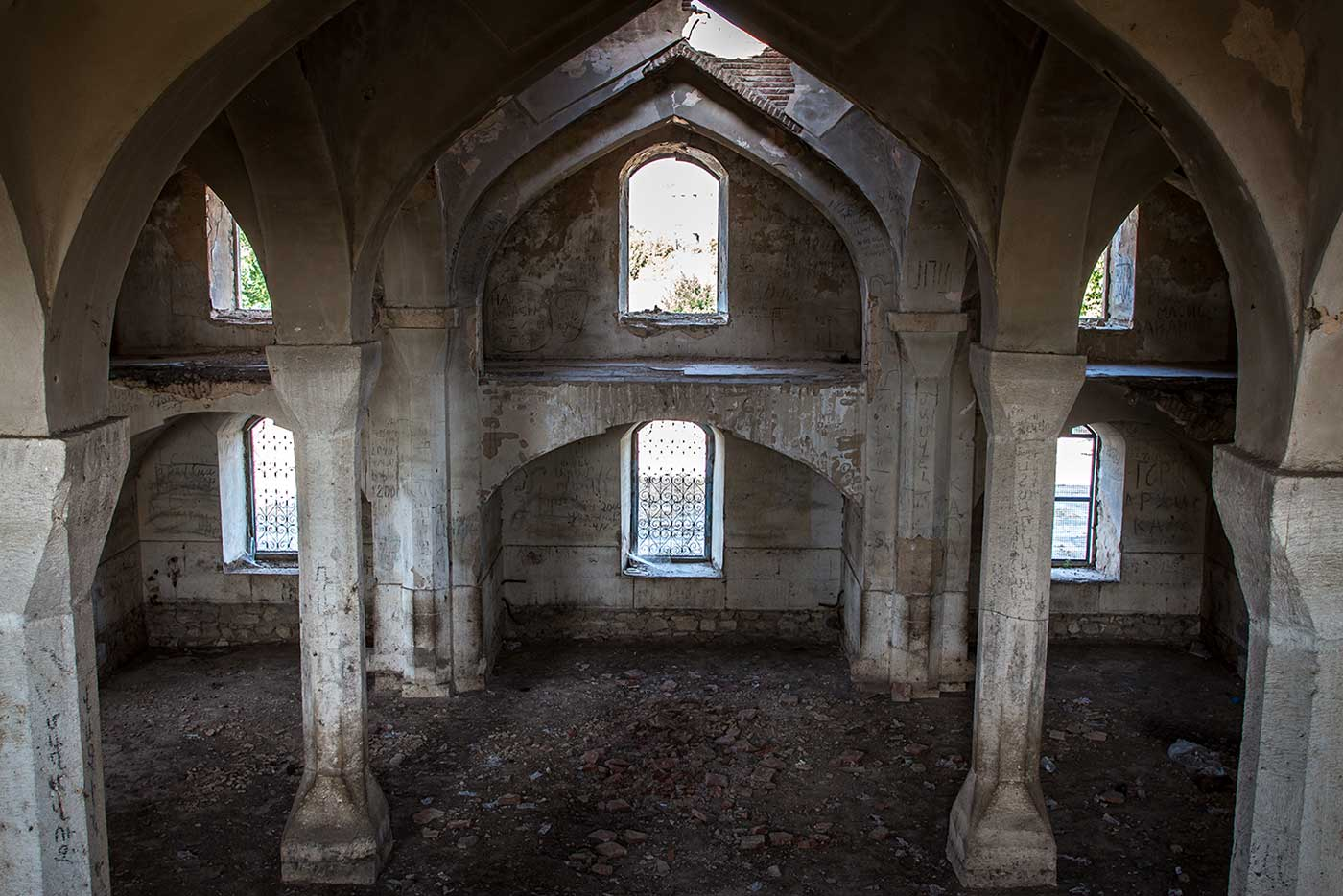 Abandoned mosque in Agdam, Republic of Artsakh.