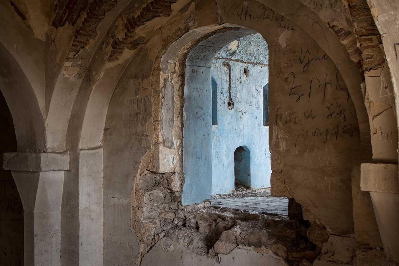 Abandoned mosque in Agdam, Nagorno-Karabakh.