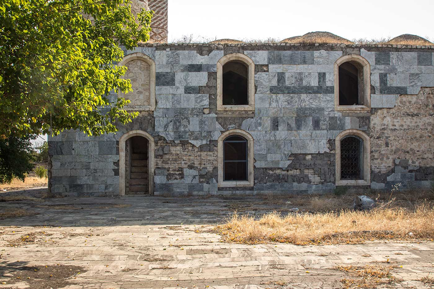 Park and fountains have given way to weeds and ruin. Agdam, Nagorno-Karabakh.