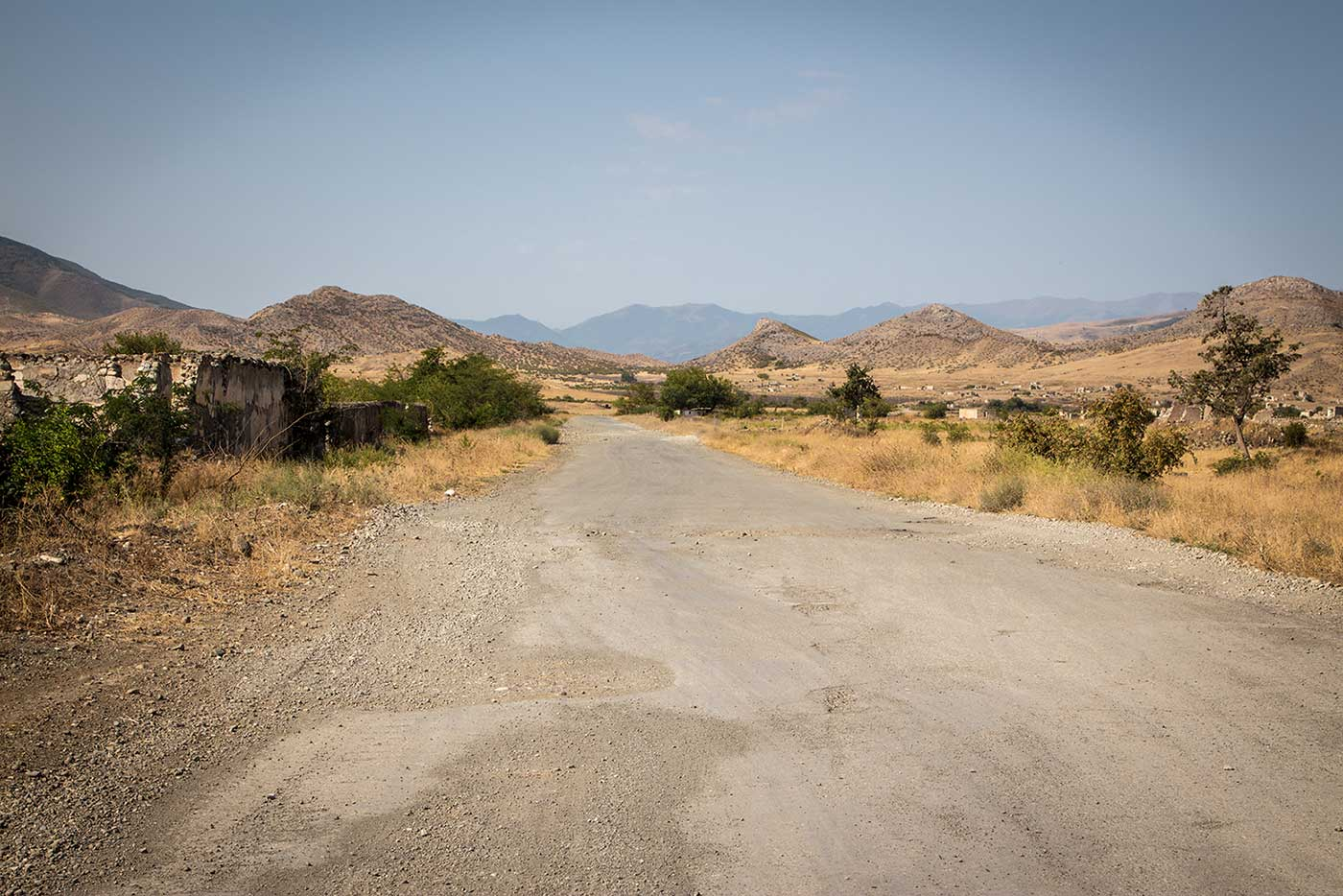 The road out of Agdam. Nagorno-Karabakh (Artsakh Republic).