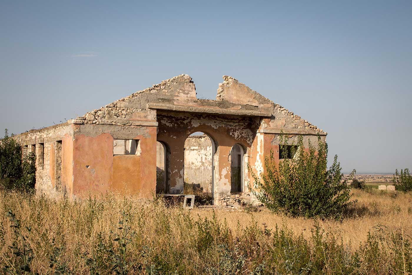 Abandoned building in Agdam, Nagorno-Karabakh.