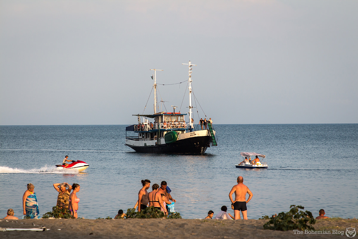 Pitsunda beach in August. Abkhazia.