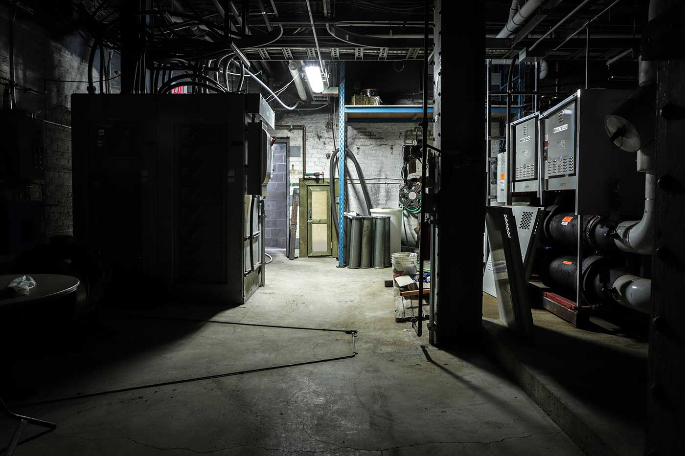 An underground space beneath Winnipeg's Fort Garry Hotel.