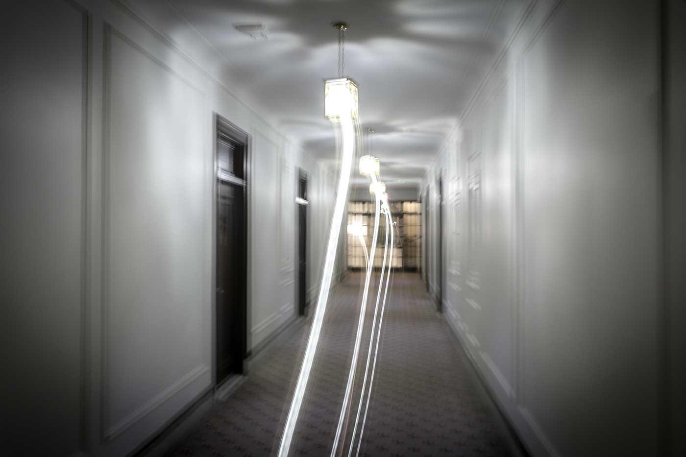 Spooky photo of Fort Garry Hotel, Winnipeg.