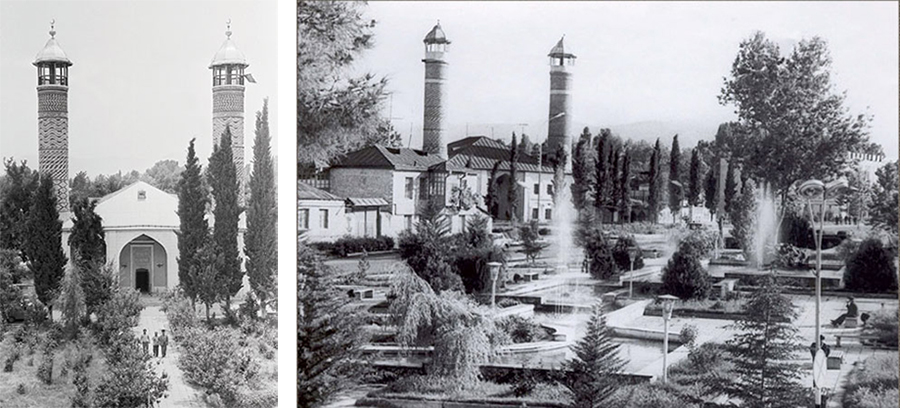 Archive photo of Agdam's central mosque. Nagorno-Karabakh.