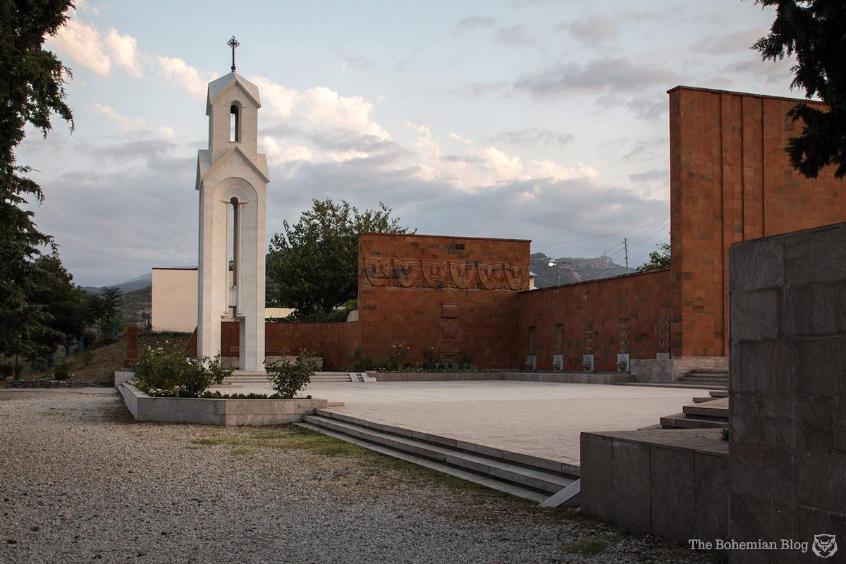 Stepanakert's WWII memorial. Nagorno-Karabakh.