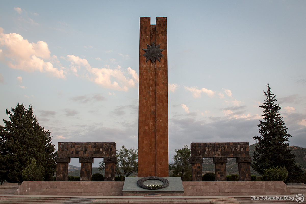 Monument to the Fallen in the Great Patriotic War. Stepanakert, Nagorno-Karabakh.