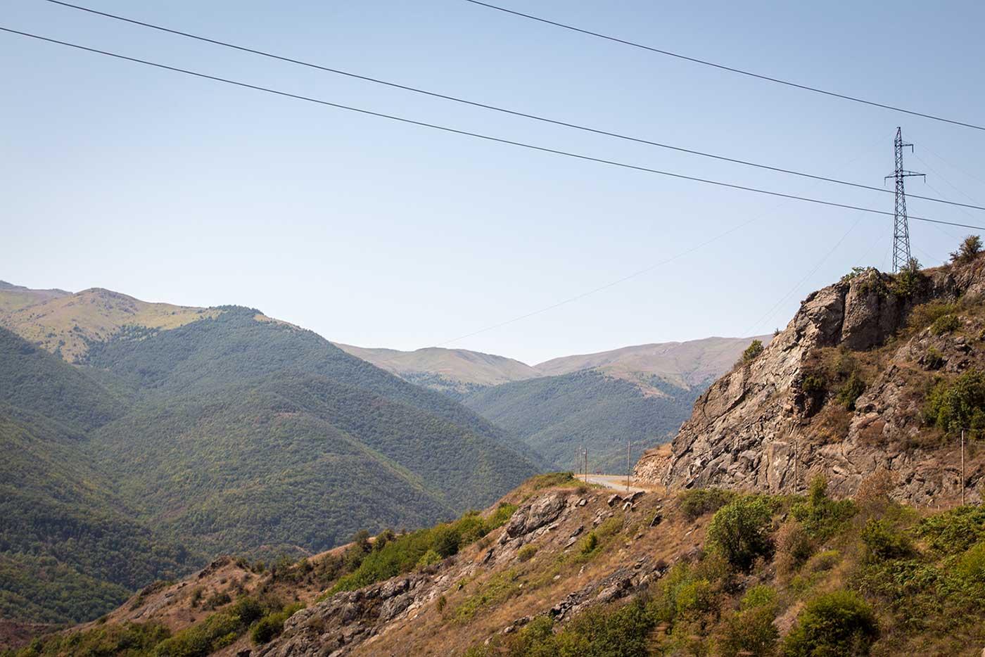 Mountain views on the road from Armenia to Nagorno-Karabakh.