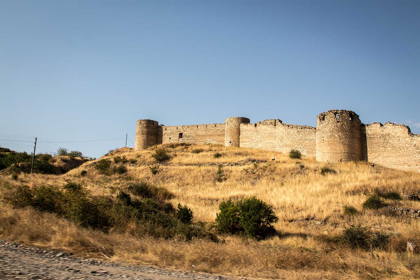 Ruins of the 18th century Askeran Fortress. Nagorno-Karabakh.