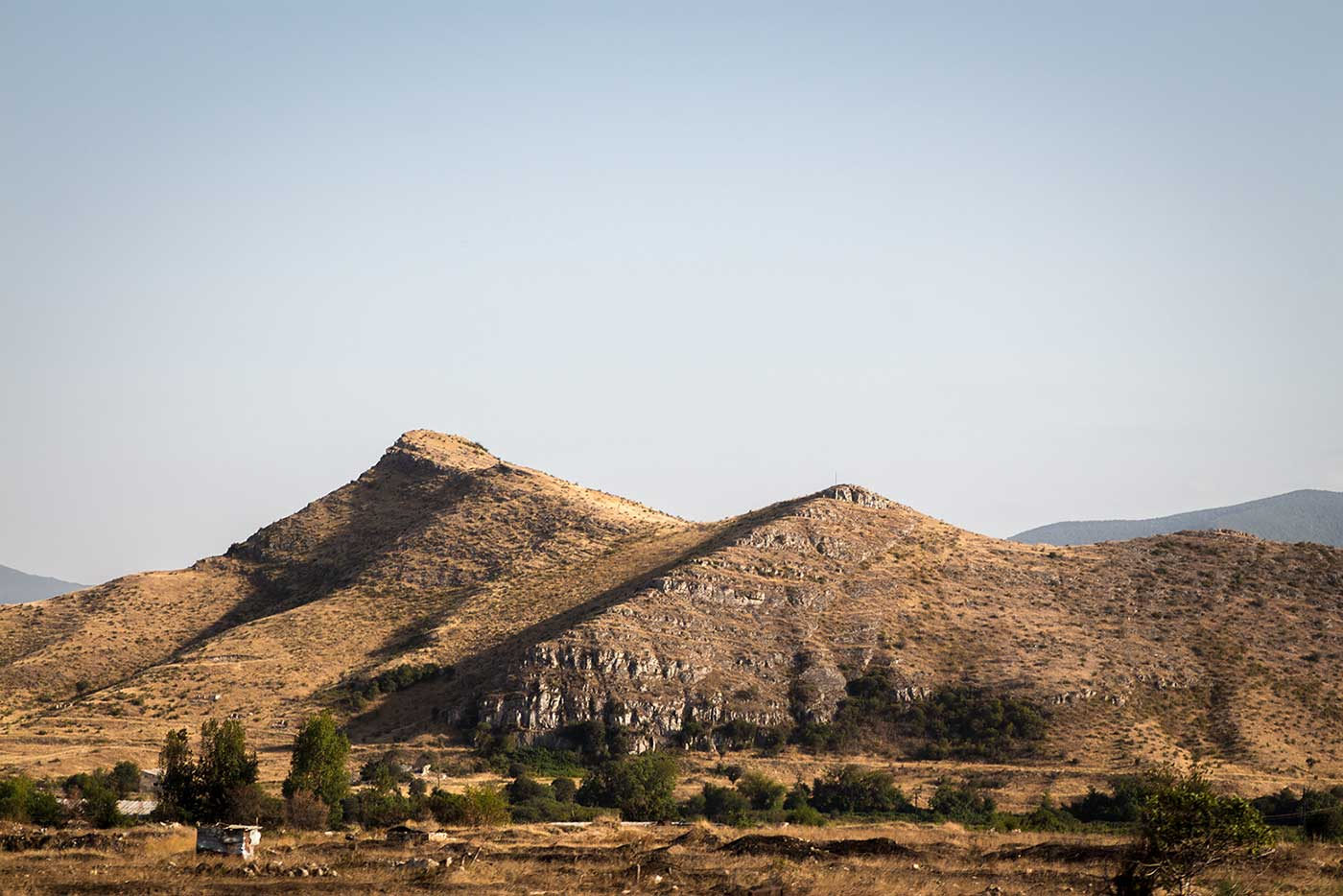 Mountain view from the highway. Artsakh Republic.