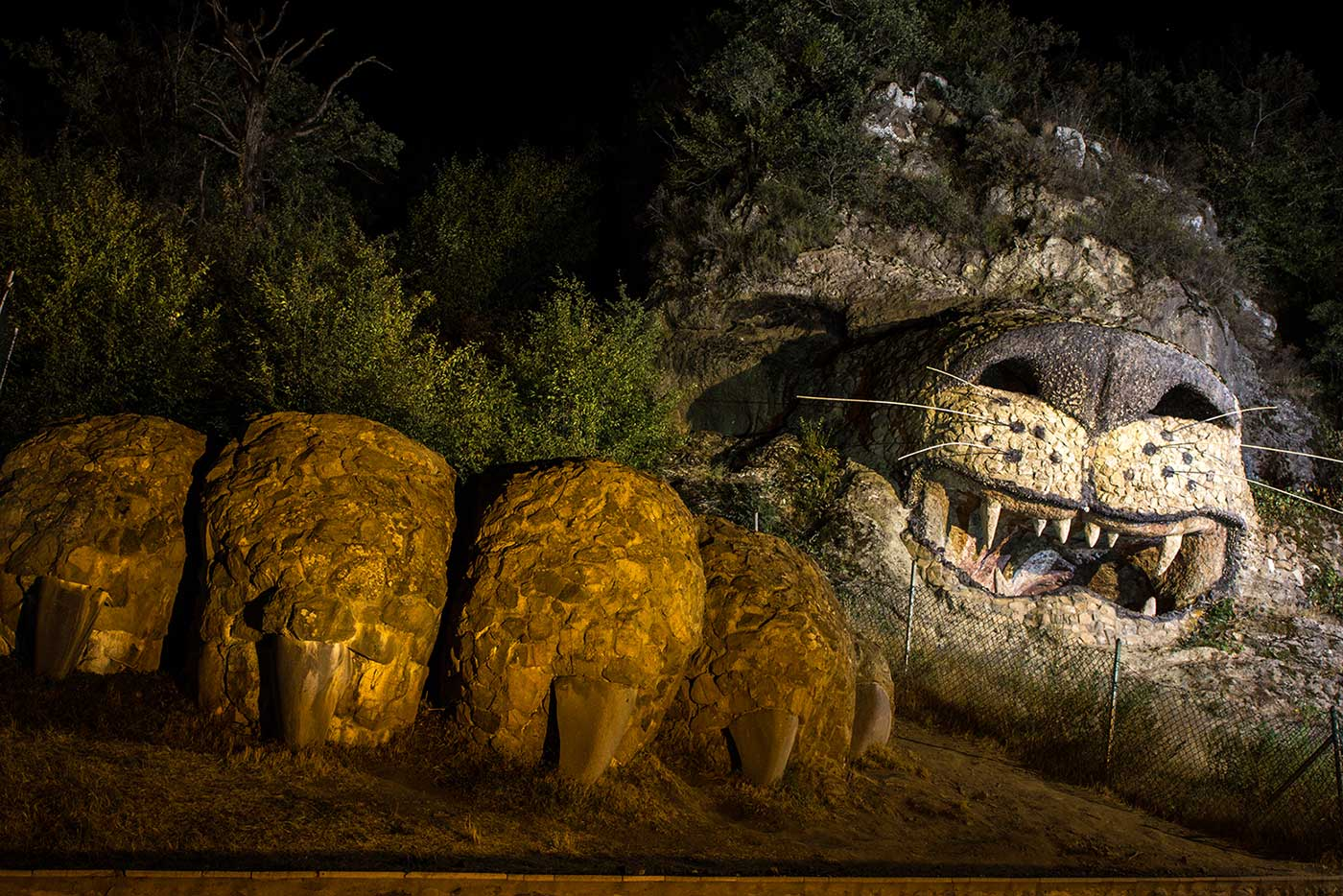 Behind the Sea Stone Hotel in Vank, Nagorno-Karabakh, a rocky hillside has been carved into the shape of a lion.