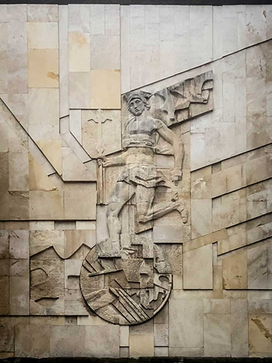 A likeness of Hermes at Central City Square, Shumen, Bulgaria.