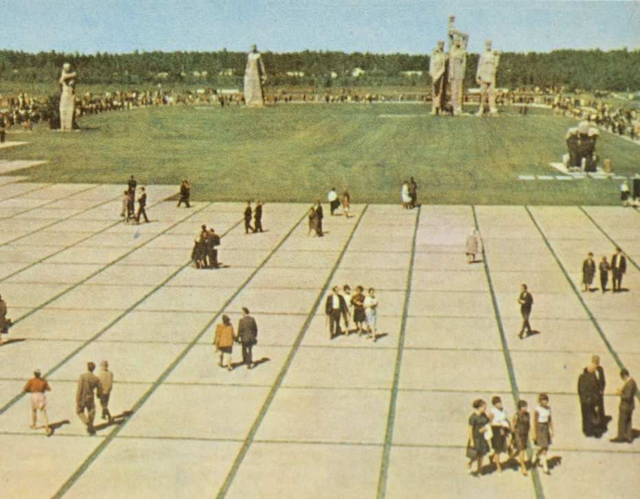The Salaspils Memorial Ensemble in 1970. Salaspils Memorial, Latvia.
