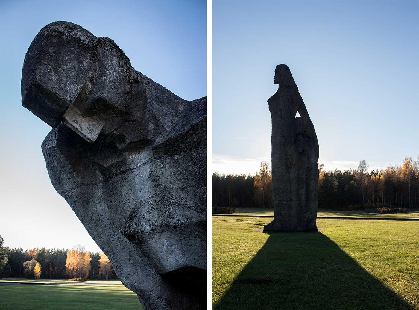 'The Unbroken.' Salaspils Memorial, Latvia.