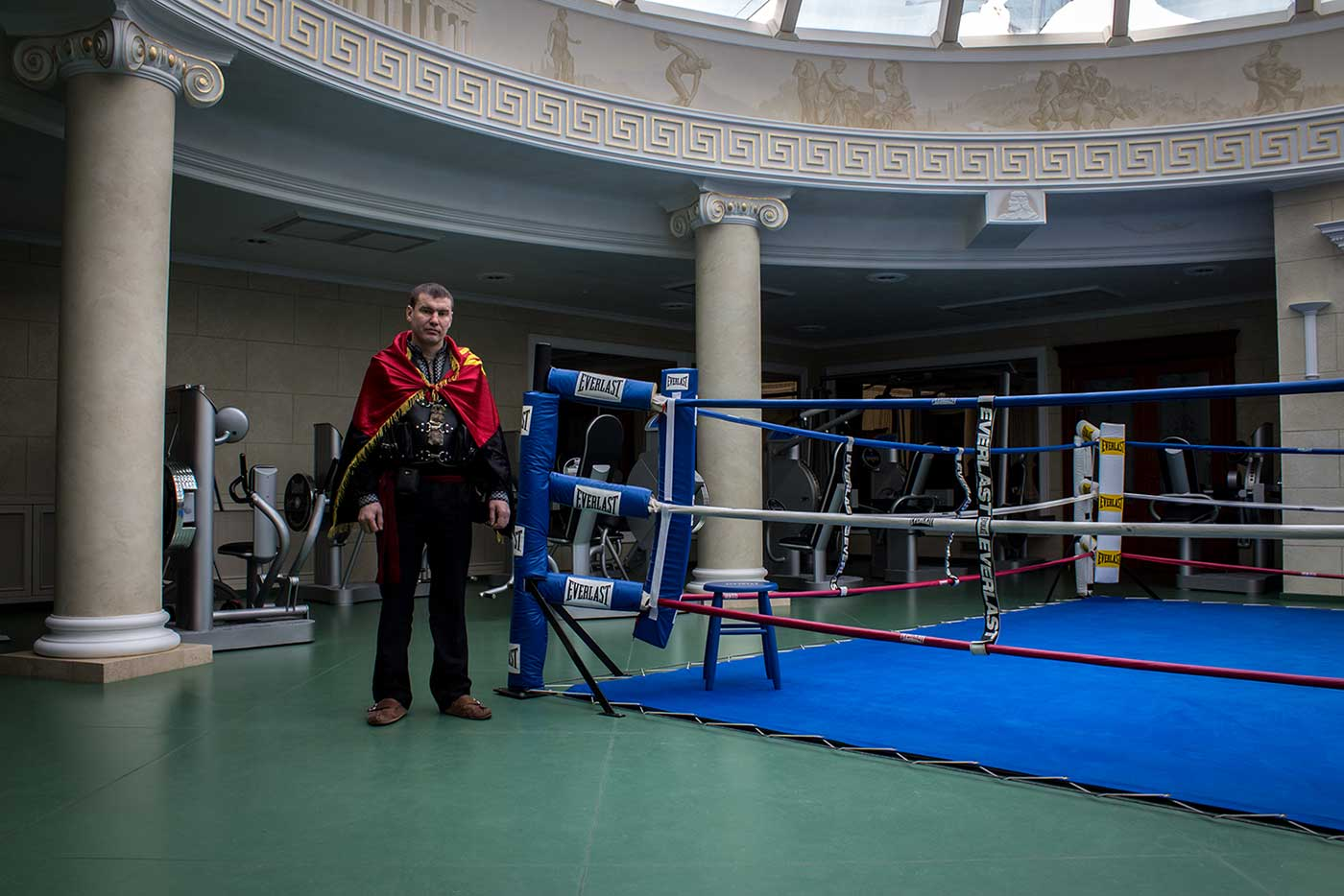 Yanukovych's boxing ring. Mezhyhirya, Ukraine.