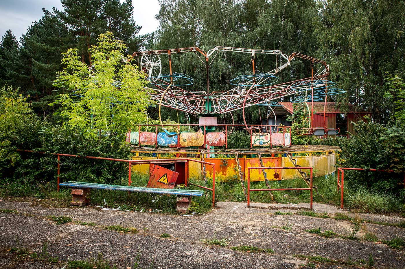 The park was called 'Children's World,' and was in operation from 1986 until 2013. Elektrėnai, Lithuania.
