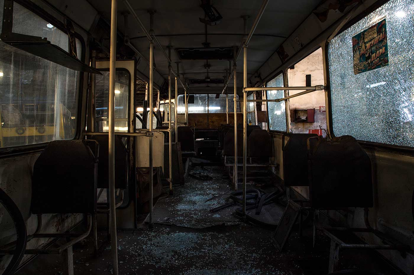 Autobus Park №7 contains an estimated total of 903 abandoned buses. Autobus Park №7: the abandoned bus depot in Kyiv, Ukraine.