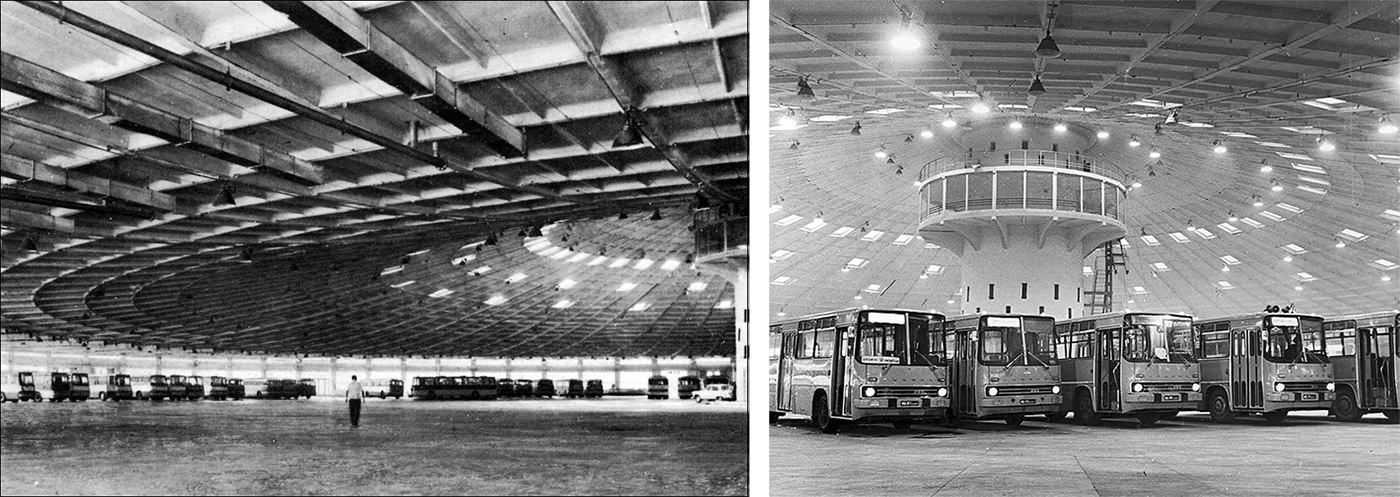 Promotional photographs of АП №7 in use, in the late 1970s. Autobus Park №7: the abandoned bus depot in Kyiv, Ukraine.