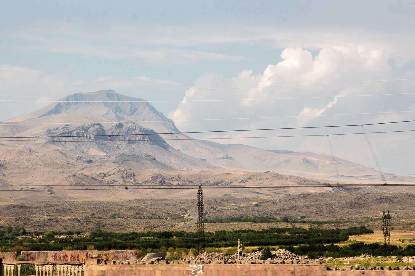 In Armenia you never feel far from the mountains.