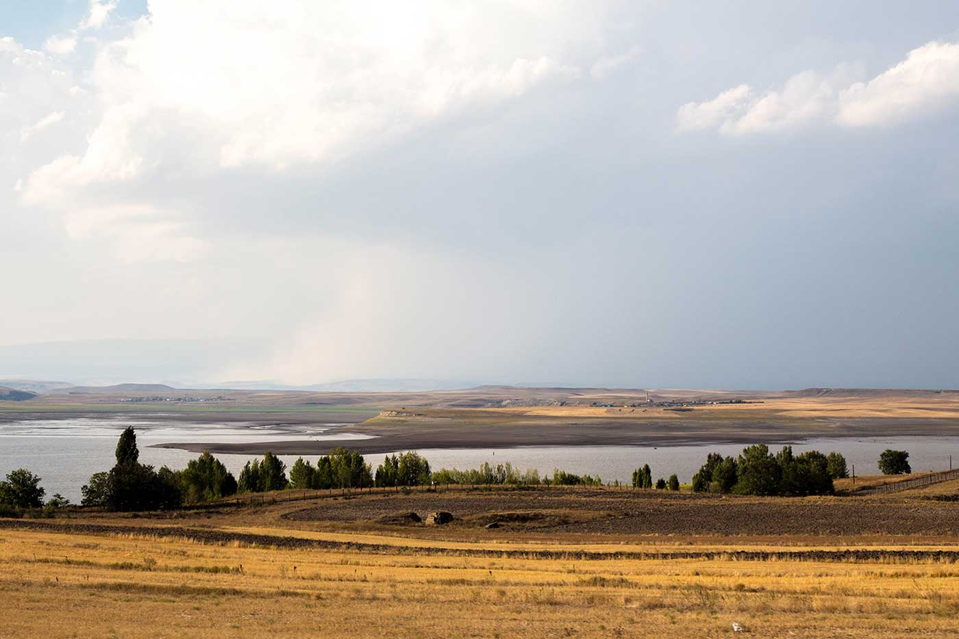 Turkey –viewed from Armenia, across the Akhurian River that forms the border.