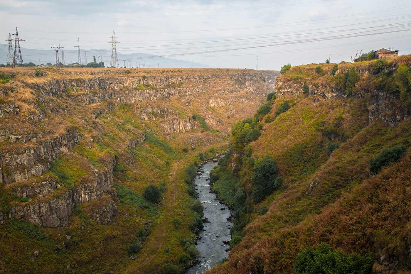 The river valley just outside Stepanavan, Armenia.