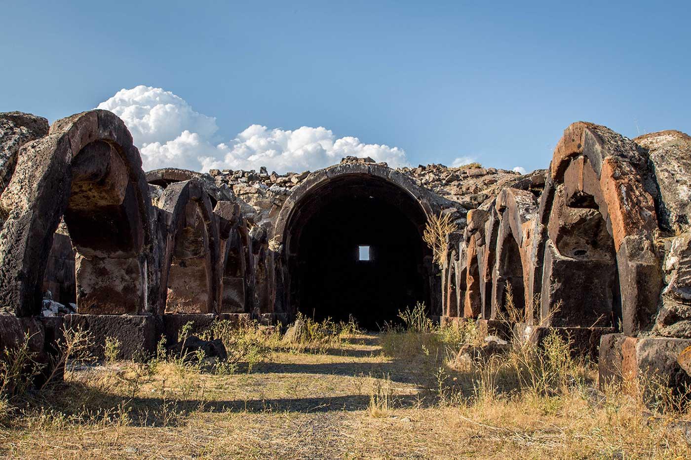 The ruins of the former Caravansaray at Jrapi, Armenia.