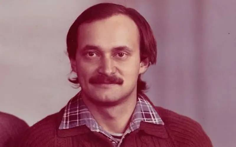 Alexei Ananenko as a young engineer, photographed in the years before the Chernobyl disaster.